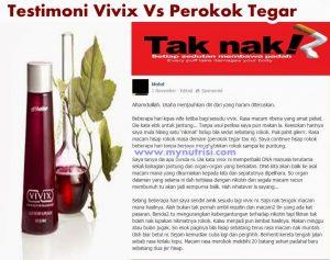 testimoni vivix vs perokok