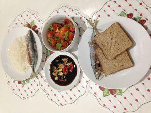 Ikan Bakar, Wholemeal Bread dan Sayur