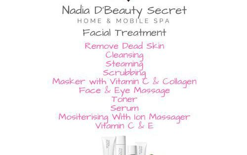 Promosi Facial Treatment Home and Mobile Spa Gombak August 2018